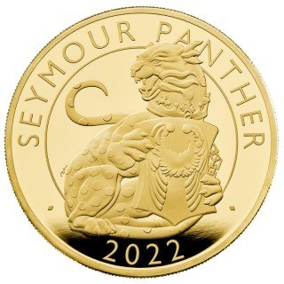 100 Sterline in oro – Seymour Panther - The Royal Tudor Beasts - 1 oz