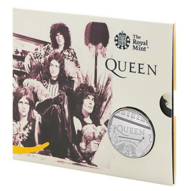 5 Sterline in Cu.Ni.- QUEEN BAND - The Rock Royalty